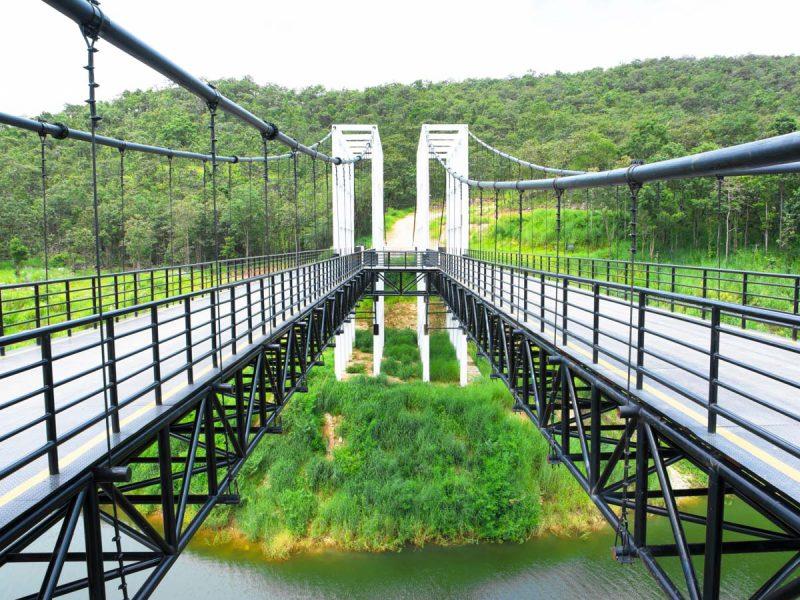 45 สะพานแขวนเขื่อนแม่กวง